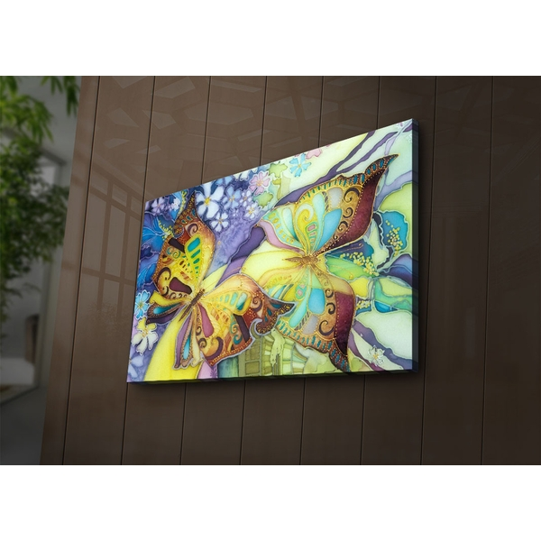 4570?ACT-54 Multicolor Decorative Led Lighted Canvas Painting