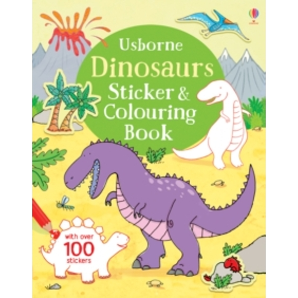 Dinosaurs Sticker & Colouring Book by Sam Taplin (Paperback, 2016)