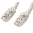 StarTech Cat6 patch cable with Snagless RJ45 Connectors 15 ft White