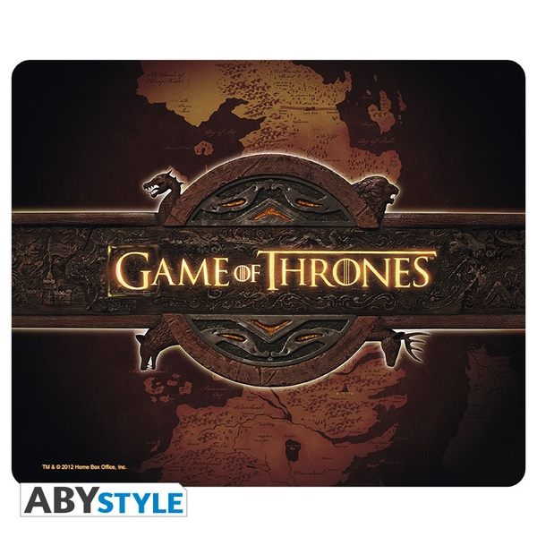 Image of Game Of Thrones - Logo & Card Mouse Mat