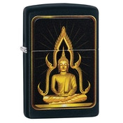 Zippo Unisex's Buddah Black Regular Windproof Lighter