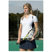 PT Ladies Polo Shirt Small White/Navy