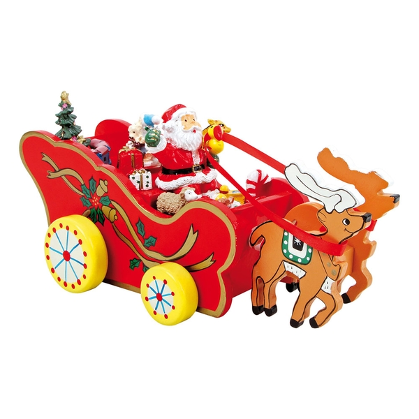 LEGLER Small Foot Christmas Carriage Musical Box Wooden Toy