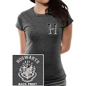 Harry Potter - Hogwarts Varsity Women's Large T-Shirt - Grey