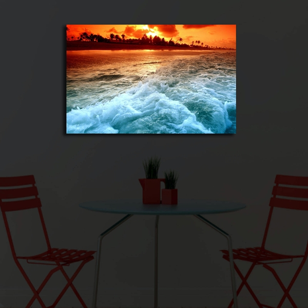 4570?ACT-45 Multicolor Decorative Led Lighted Canvas Painting