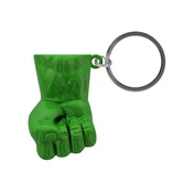 Marvel Comics Incredible Hulk Fist 3D Pendant Metal Keychain - Green