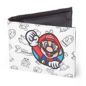 Nintendo Super Mario Bros. Mario Patch with All-over Pattern Bi-fold Wallet