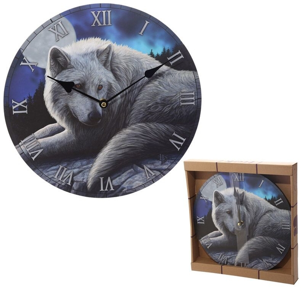 Guardian Wolf Design Wall Clock