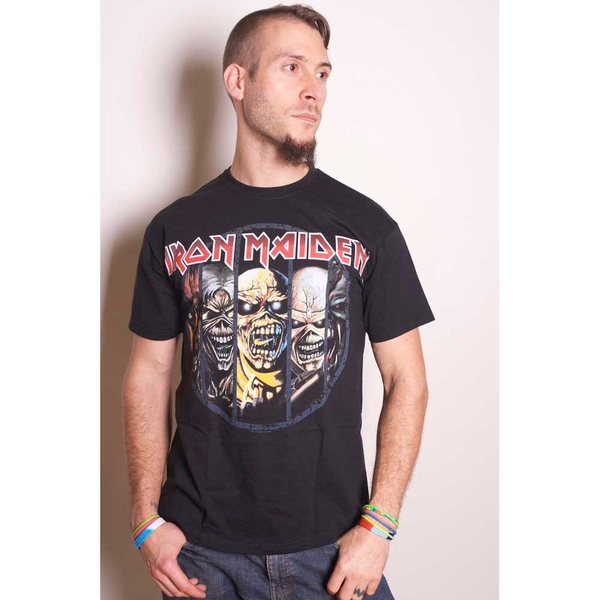 Iron Maiden - Eddie Evolution Unisex Large T-Shirt - Black