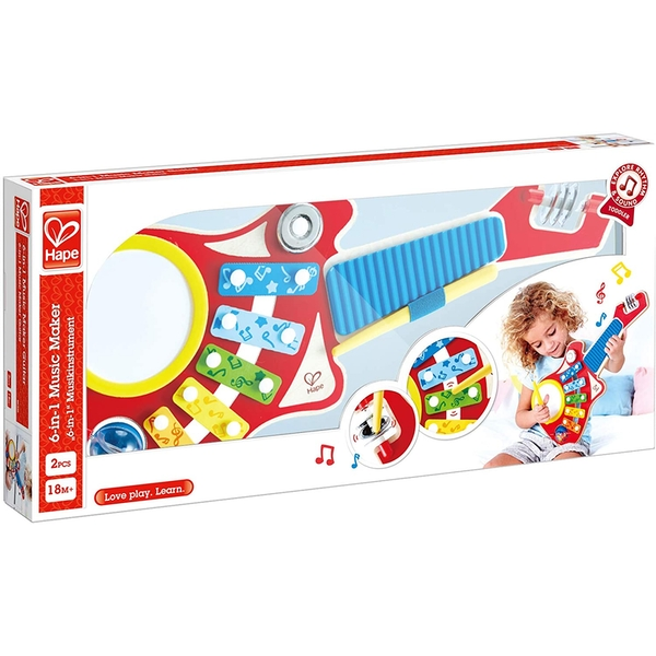 Hape 6-in-1 Guitar Band Activity Toy