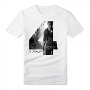 Uncharted 4 Adult Male Silhouette '4' A Thief's End Small T-Shirt - White