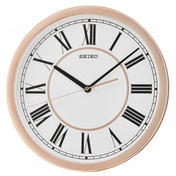 Seiko QXA665P Roman Numeral Wall Clock Rose Gold Case