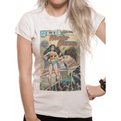 Justice League Comics - Wonder Woman Comic Women's Small T-Shirt - White