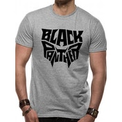 Black Panther Movie - Text Logo Unisex X-Large T-Shirt - Grey