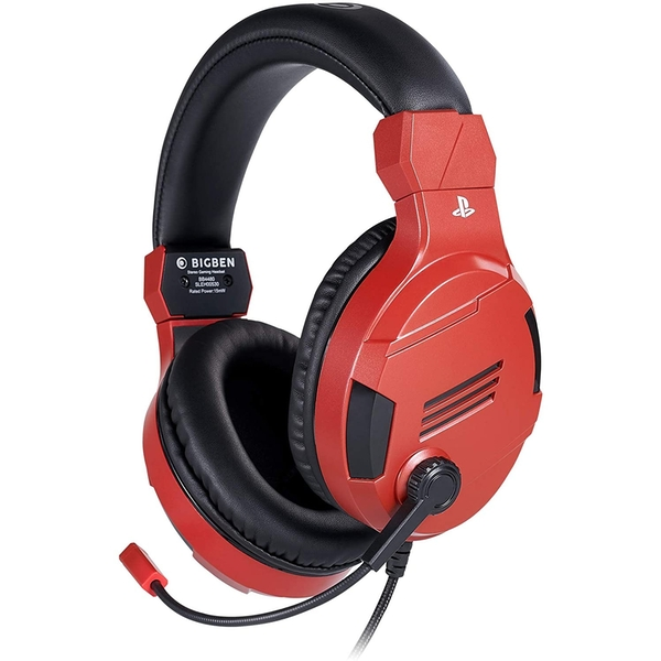 Official Playstation Gaming Headset V3 Red for PS4