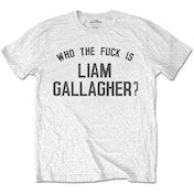 Liam Gallagher - Who the Fuck? Men's XX-Large T-Shirt - White