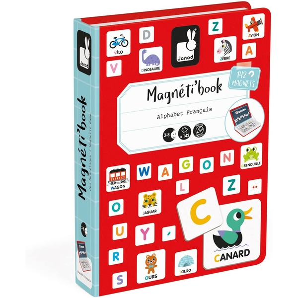 Janod Magneti'Book Alphabet Game - French Version