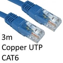 RJ45 (M) to RJ45 (M) CAT6 3m Blue OEM Moulded Boot Copper UTP Network Cable