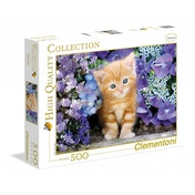 Clementoni Ginger Cat In Flowers High Quality Collection Jigsaw (500 Piece)