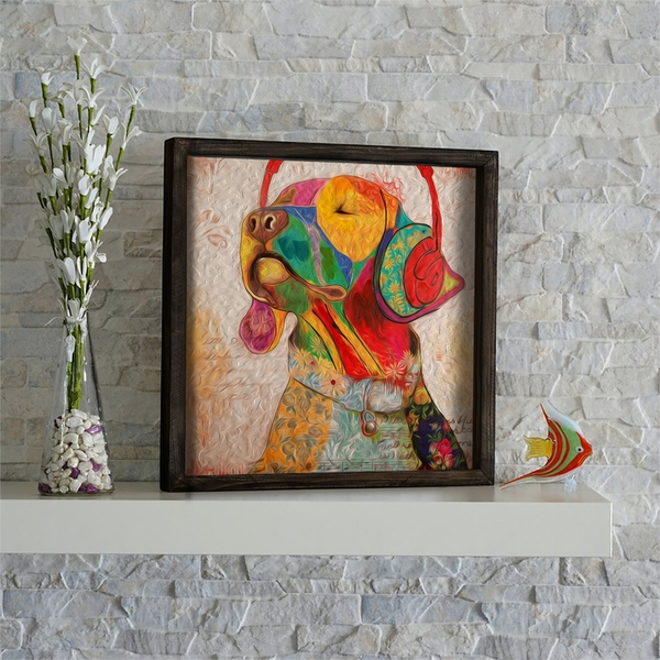 KZM486 Multicolor Decorative Framed MDF Painting