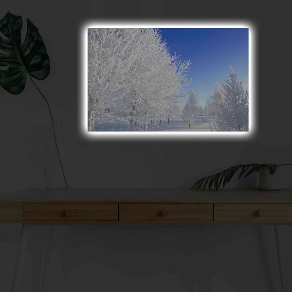 4570KARDACT - 017 Multicolor Decorative Led Lighted Canvas Painting