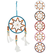 Multi Bead Dream Catcher Pack Of 6