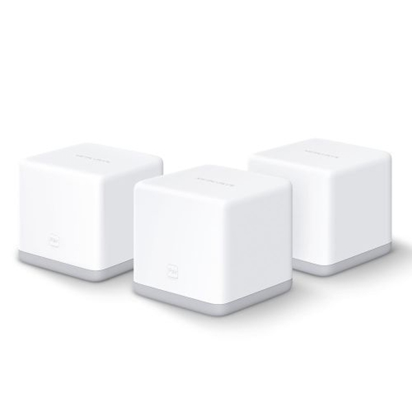 Mercusys HALO S3 Whole-Home Mesh Wi-Fi System, 3 Pack, 300Mbps, 2 x LAN on each Unit UK Plug