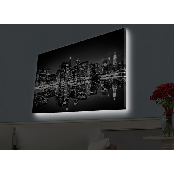 4570HDACT-081 Multicolor Decorative Led Lighted Canvas Painting