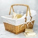 Willow Storage Basket with Cotton Lining Brown | M&W - Image 3