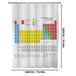 Periodic Table Shower Curtain | M&W - Image 4