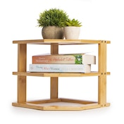 Bamboo 3 Tier Corner Shelf | M&W