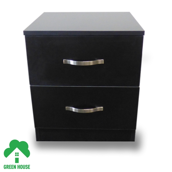 2 Chest Of Drawers Bedside Cabinet Black Dressing Table Bedroom Furniture Wooden Green House