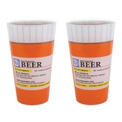 Beer Prescription Pint Glass Set Of 2