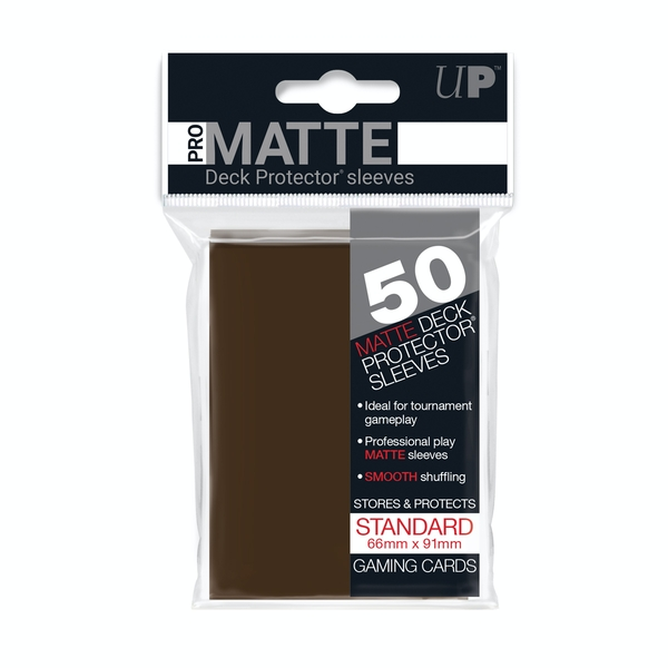 Ultra Pro Standard Deck Protectors (50 Sleeves) - Brown