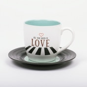Thumbs Up! L&M Mug and Saucer Set Love2