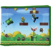 Nintendo Super Mario Bros Full Print Green Wallet