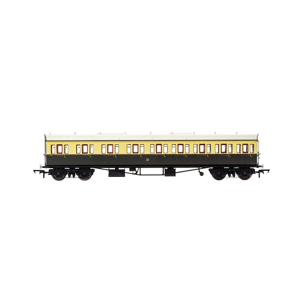 Hornby GWR Collett 57' Bow Ended 6626 E131 Nine Compartment Composite (Left Hand) Era 3 Model Train