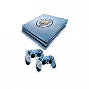 Official Manchester City FC PS4 Pro Console Skin and 2x Controller Skin Combo Pack