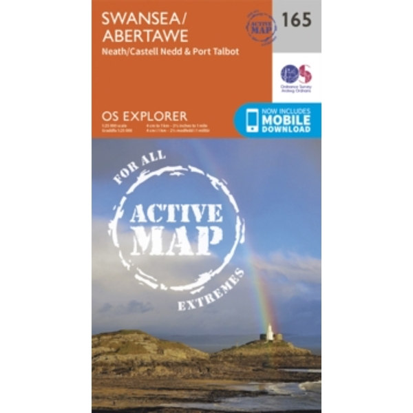 Swansea, Neath and Port Talbot by Ordnance Survey (Sheet map, folded, 2015)