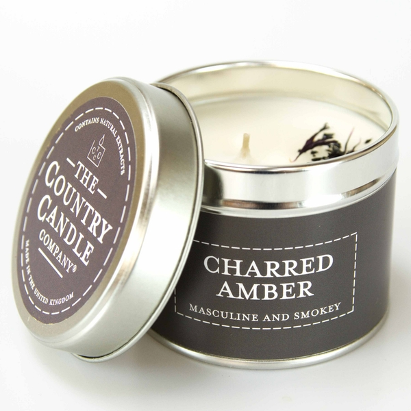 Charred Amber (Pastel Collection) Tin Candle - Image 1
