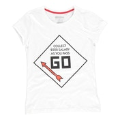 Hasbro - Monopoly Go Men's Small T-Shirt - White