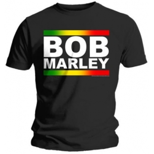Bob Marley Rasta Band Block T Shirt: Small