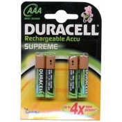 Duracell Rechargeable Supreme HR03 AAA Batteries - 4-Pack