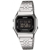 Casio Unisex Chronograph Digital Watch Black Dial Silver