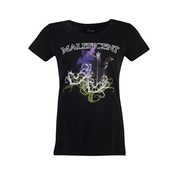 Disney - Maleficent Gel Printed Women's Small T-Shirt - Black