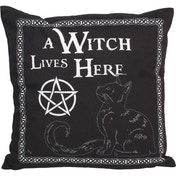 A Witch Lives Here Cushion