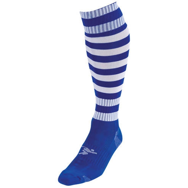 Precision Hooped Pro Football Socks Royal/White - UK Size 3-6