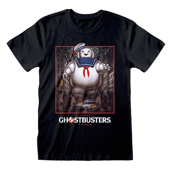 Ghostbusters - Stay Puft Square Unisex XX-Large T-Shirt - Black