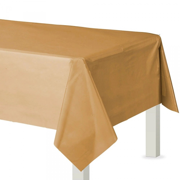 Amscan Plastic Table Cover 12 Pieces (Gold)