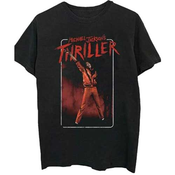 Michael Jackson - Thriller White Red Suit Unisex XX-Large T-Shirt - Black